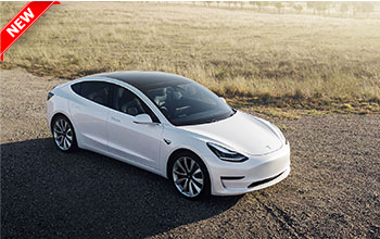 Brand new electric vehicle Tesla Model 3 for rental